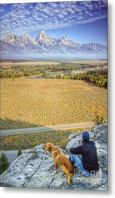 Overlooking The Grand Tetons Jackson Hole Metal Print by Dustin K Ryan