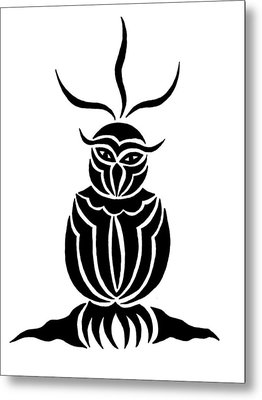 Owl For Nicole Metal Print by Beth Akerman