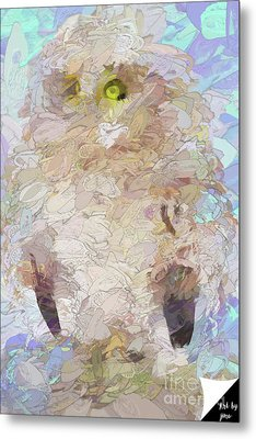 Metal Print featuring the digital art OWL by Jim  Hatch