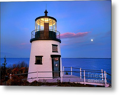 Owls Head Light Evening Metal Print by Olivier Le Queinec