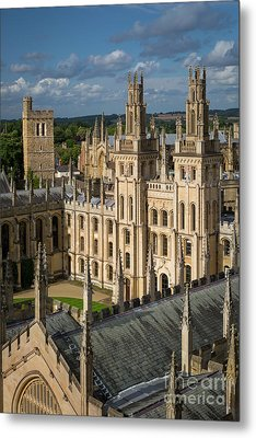 Metal Print featuring the photograph Oxford Spires by Brian Jannsen