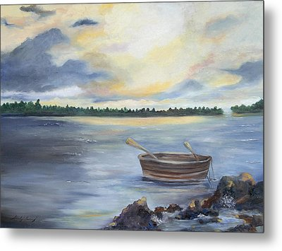 Oyster Bay Metal Print by Shirley Lawing