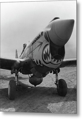 P-40 Warhawk - Flying Tiger Metal Print by War Is Hell Store
