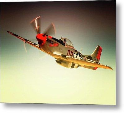 P-51 Mustang Man O War Metal Print by Gus McCrea