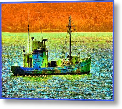 p1030865001d  Fishing  Boat Metal Print by Ed Immar