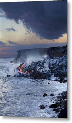 Pacific Lava Flow Metal Print by Dave Fleetham - Printscapes
