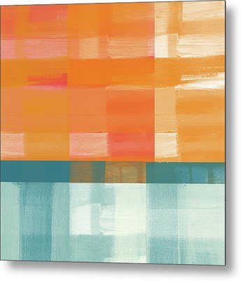 Pacific Sunset 2- Abstract Art By Linda Woods Metal Print