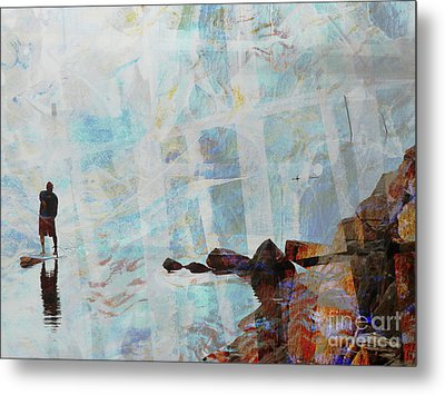 Paddleboarding Metal Print by Robert Ball