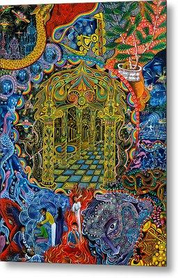 Pagoda Dorada Metal Print by Pablo Amaringo