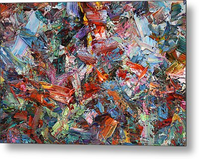 Paint Number 42-a Metal Print by James W Johnson