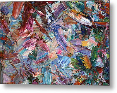 Paint Number 42-b Metal Print by James W Johnson