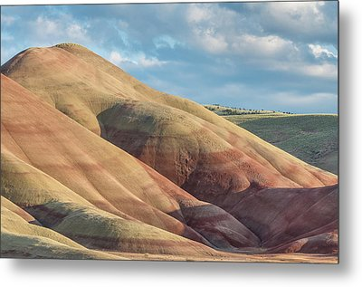 Painted Hill And Clouds Metal Print by Greg Nyquist