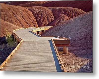 Painted Hills Boardwalk Metal Print by Jerry Fornarotto