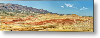 Painted Hills Pano 2 Metal Print by Jerry Fornarotto
