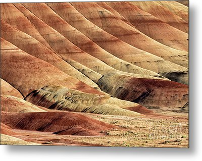 Painted Hills Textures Metal Print by Jerry Fornarotto