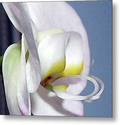Metal Print featuring the digital art Painted Orchid by Ellen Barron O'Reilly