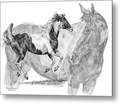 Painted Passion - Paint Horse Art Print Metal Print