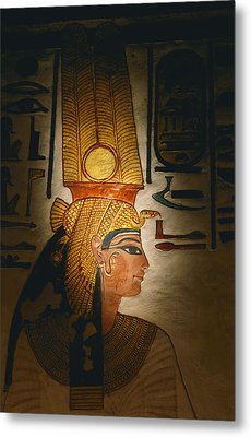 Painted Relief, Nefertari Tomb, Valley Metal Print by Kenneth Garrett