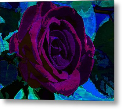 Painted Rose Metal Print