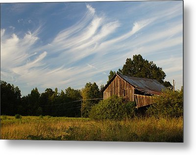 Painted Sky Barn Metal Print