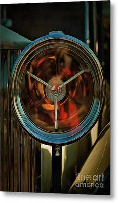 Painting Of 1934 Rolls Royce 20/25 Headlight Metal Print by George Atsametakis