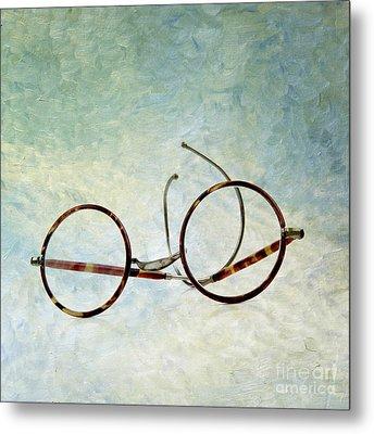 Pair Of Glasses Metal Print by Bernard Jaubert