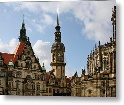 Palace Square In Dresden Metal Print by Christine Till