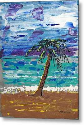 Metal Print featuring the painting Palm Beach by J R Seymour