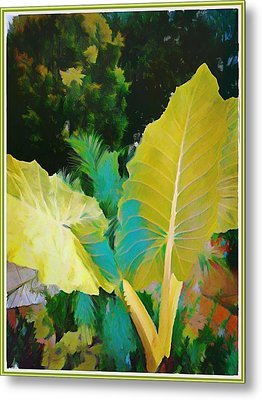 Metal Print featuring the painting Palm Branches by Mindy Newman