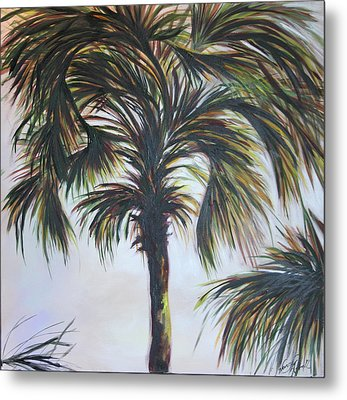 Palm Silhouette Metal Print by Michele Hollister - for Nancy Asbell