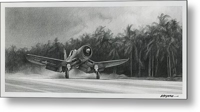 Palm Trees And Pistons Metal Print