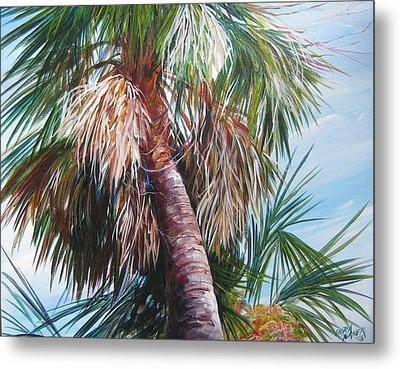 Palmetto In Acrylics Metal Print by Gloria Turner