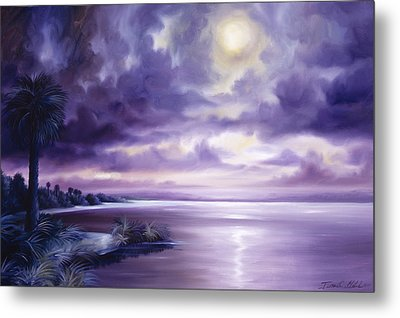 Palmetto Moonscape Metal Print