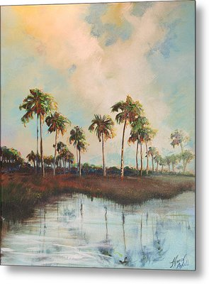 Palms Of Course Metal Print by Michele Hollister - for Nancy Asbell