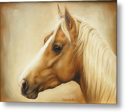 Palomino Metal Print by Margaret Stockdale