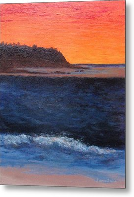 Metal Print featuring the painting Palos Verdes Sunset by Jamie Frier