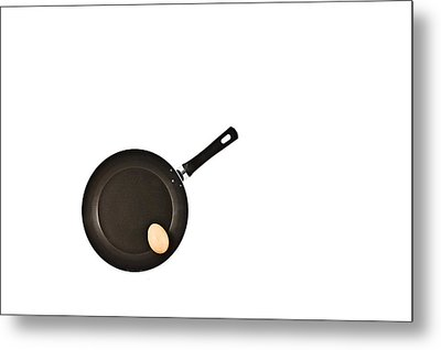 Pan With Egg Metal Print
