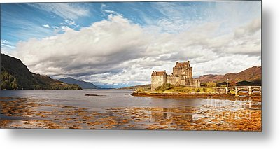 Panorama Of Eilean Donan Castle Scotland Metal Print by Colin and Linda McKie