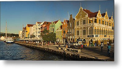 Panorama Of Willemstad Waterfront Curacao Metal Print by David Smith