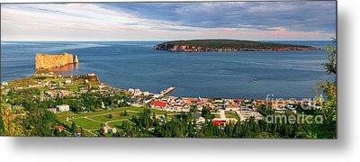 Panoramic View In Perce Quebec Metal Print