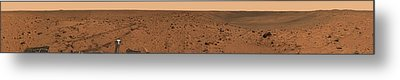 Panoramic View Of Bonneville Crater Metal Print by Stocktrek Images