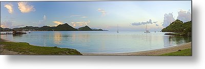 Metal Print featuring the photograph Panoramic1- St Lucia by Chester Williams
