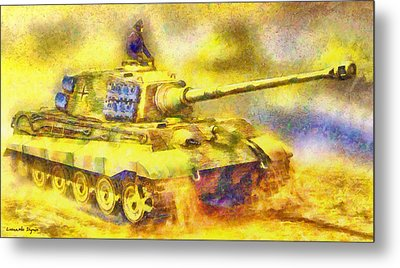 Panzer Tiger 2 - Pa Metal Print by Leonardo Digenio