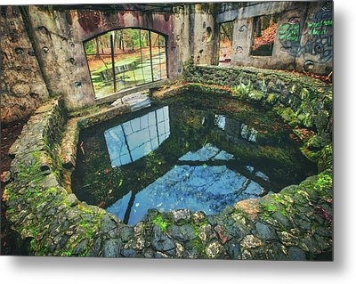 Metal Print featuring the photograph Paradise Springs- Spring House - Kettle Moraine State Forest by Jennifer Rondinelli Reilly - Fine Art Photography