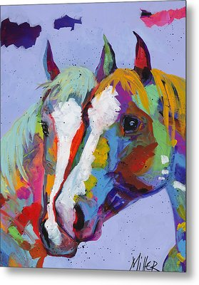 Pardners Metal Print by Tracy Miller