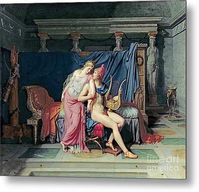 Paris And Helen Metal Print by Jacques Louis David