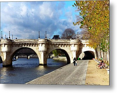 Paris Bridge 0523 Metal Print by PhotohogDesigns