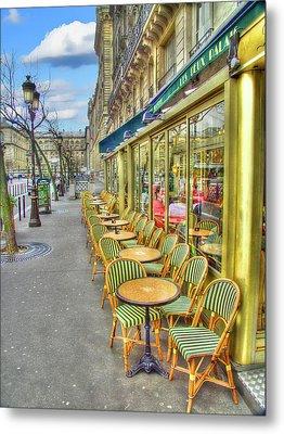 Paris Cafe Metal Print by Mark Currier