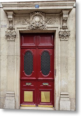 Metal Print featuring the photograph Paris Doors No. 17 - Paris, France by Melanie Alexandra Price