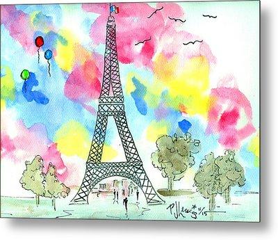 Paris Dreaming Metal Print by P J Lewis